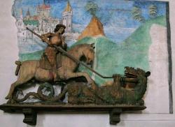 Scultura in legno di San Giorgio a Ernen